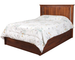 Elegance Queen Pedestal Bed w/ 60 Wide Drawers Image