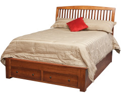 Holmes Queen Pedestal Bed w/2-Drawers in Footboard Image