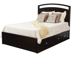 Nouveau Queen Pedestal Bed w/ 60 Drawers (1 Per Side) Image