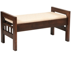 Contemporary Footboard Storage Bench with Fabric Seat Image