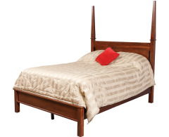 Modern Queen Pencil Post Bed w/ Low Footboard Image