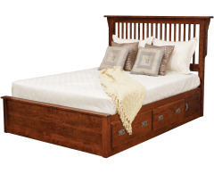 Lewiston Queen Slat Bed w/ 2 30 Drawers per Side Image