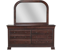 Paris 8 Drawer Double Dresser with Mirror Image