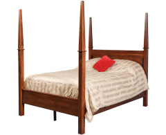 Modern Queen Pencil Post Bed w/ Std. Height Footboard Image