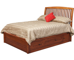 Holmes Queen Pedestal Bed w/2 60 Wide Side Drawers Image