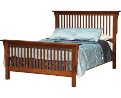 Mission Queen Bed w/ Std. Height Footboard Image