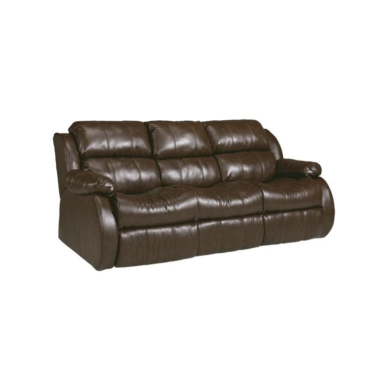Durablend Cafe Leather Reclining Sofa W Ddt Dual Mage