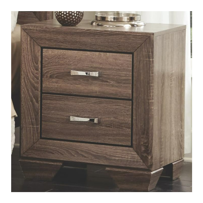 Kauffman Nightstand With 2 Drawers And Tapered Feet