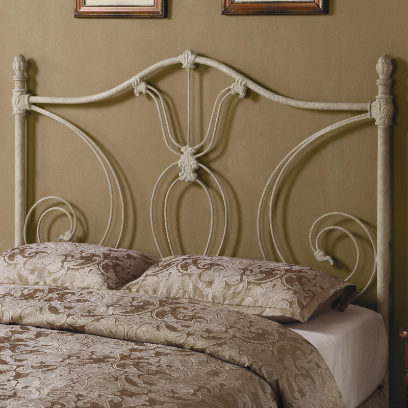 f890da0c4264f2 Iron Beds and Headboards Full/Queen White Metal Headboard by Coaster ...