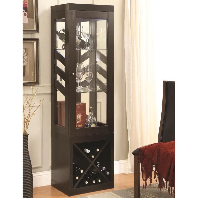 Curio Cabinets Modern Cabinet W Wine Storage