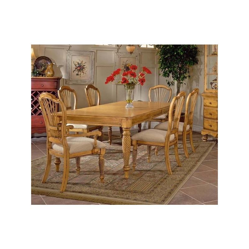 Wilshire 5pc Rectangle Dining Set Antique Pine - Wilshire 5pc Rectangle Dining Set Antique Pine By Hillsdale