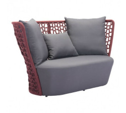 FAYE BAY BEACH SOFA CRANBERRY & GRAY  Image